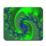 """Green Ice"" Fractal Art Mousepad"