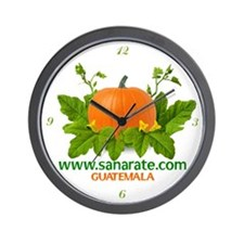 Wall Clock with numbers Logo Sanarate, Guatemala