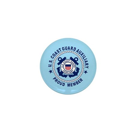 USCG Auxiliary Pride<BR> 10 Mini Buttons
