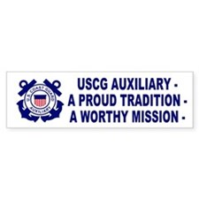 USCG Auxiliary Pride<BR> Bumper Bumper Sticker