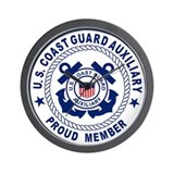 USCG Auxiliary Pride&lt;BR&gt; Wall Clock