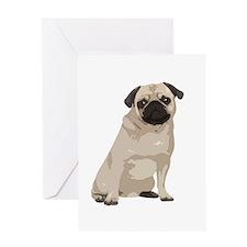 Cartoon Pug Greeting Card