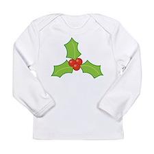Christmas Holly Long Sleeve Infant T-Shirt