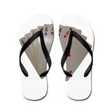 EIGHT ACES™ @ www.catoonsinco Flip Flops