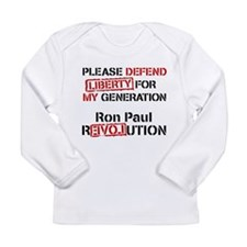 Long Sleeve Ron Paul Infant T-Shirt