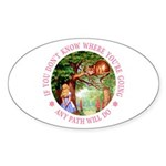Any Path Will Do Sticker (Oval 10 pk)