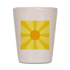 Yellow Rays Shot Glass