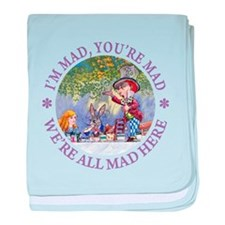 We're All Mad Here baby blanket