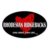 Love Rhodesian Ridgebacks Decal