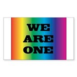 WE ARE ONE XXV™: Sticker (Rectangle 10 pk)