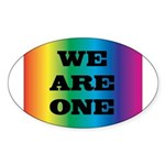 WE ARE ONE XXV™: Sticker (Oval 50 pk)