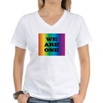WE ARE ONE XXV™: Women's V-Neck T-Shirt