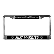 Just Married License Plate Frame