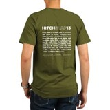Christopher Hitchens Hitchslap 13 Blue T-Shirt