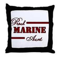 Proud Marine Aunt Throw Pillow