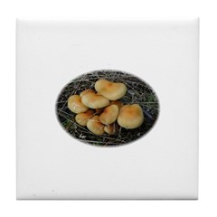 Golden Mushrooms Tile Coaster