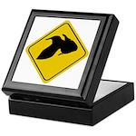 Goldfish Crossing Sign Keepsake Box
