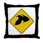 Goldfish Crossing Sign Throw Pillow