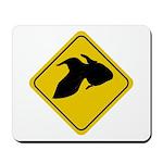 Goldfish Crossing Sign Mousepad