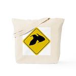 Goldfish Crossing Sign Tote Bag