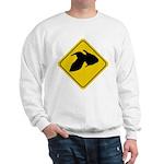 Goldfish Crossing Sign Sweatshirt