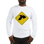 Goldfish Crossing Sign Long Sleeve T-Shirt