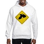 Goldfish Crossing Sign Hooded Sweatshirt