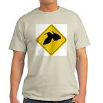 Goldfish Crossing Sign Ash Grey T-Shirt