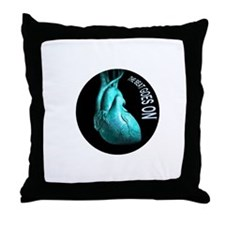 the beat goes on Throw Pillow