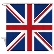 United Kingdom Union Jack Flag Shower Curtain