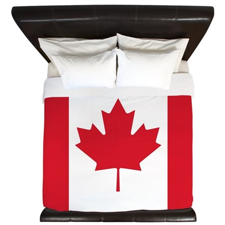 Canadian Flag King Duvet