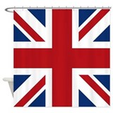 United Kingdom Union Jack Flag Shower Curtain