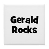 Gerald Rocks Tile Coaster