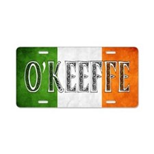 O'Keeffe Shield Aluminum License Plate