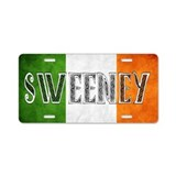 Sweeney Shield Aluminum License Plate