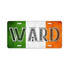 Ward Shield Aluminum License Plate