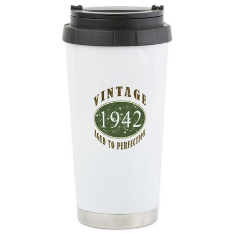 Vintage 1942 Retro Ceramic Travel Mug