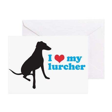 I Love My Lurcher Greeting Cards (Pk of 10)