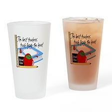 Teach From Heart Drinking Glass