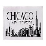 Chicago My Town Throw Blanket