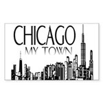 Chicago My Town Sticker (Rectangle 10 pk)