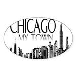 Chicago My Town Sticker (Oval 10 pk)