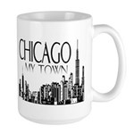 Chicago My Town Large Mug