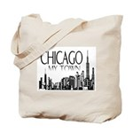 Chicago My Town Tote Bag