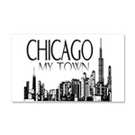 Chicago My Town Car Magnet 20 x 12