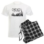 Chicago My Town Men's Light Pajamas