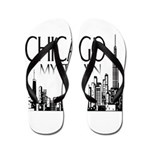 Chicago My Town Flip Flops