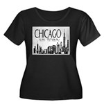 Chicago My Town Women's Plus Size Scoop Neck Dark