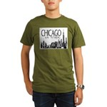 Chicago My Town Organic Men's T-Shirt (dark)