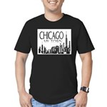 Chicago My Town Men's Fitted T-Shirt (dark)